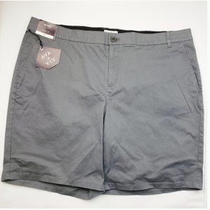 """NWT 9"""" Chino Bermuda Shorts Ava & Viv Gray"""